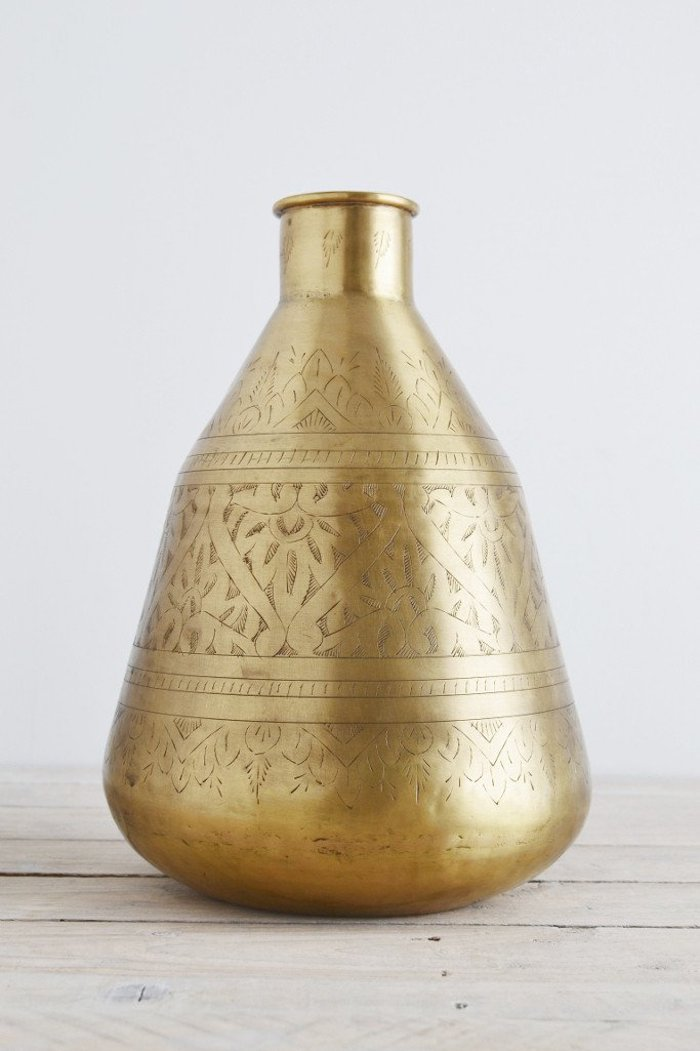 Brass Pot Hand Etched