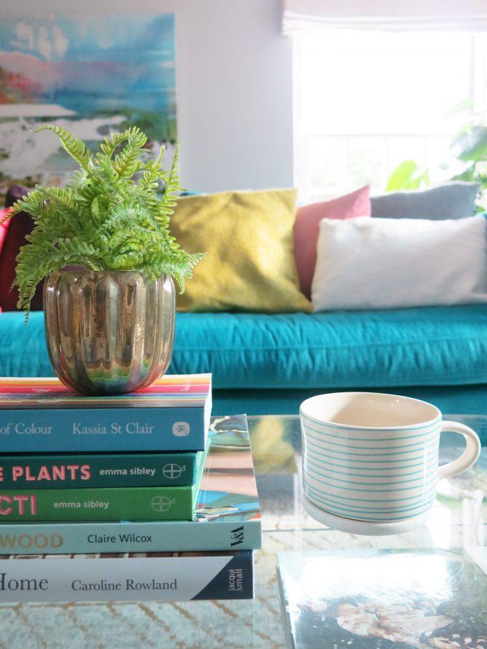 Books sofa cosy living room
