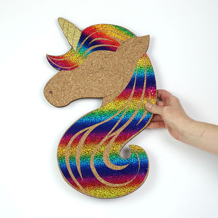 Unicorn pin board colourful