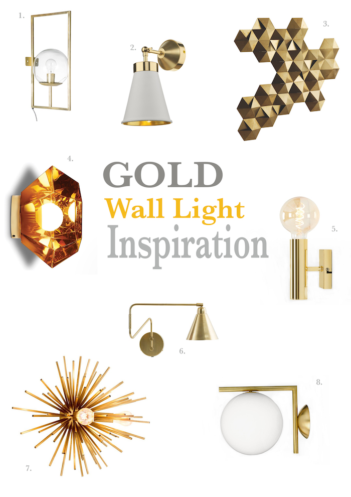 Gold Wall Lights Living Bed Room