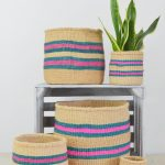 Jute Baskets Colourful Fair-trade