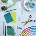 Interior Design textiles swatches paint ideas