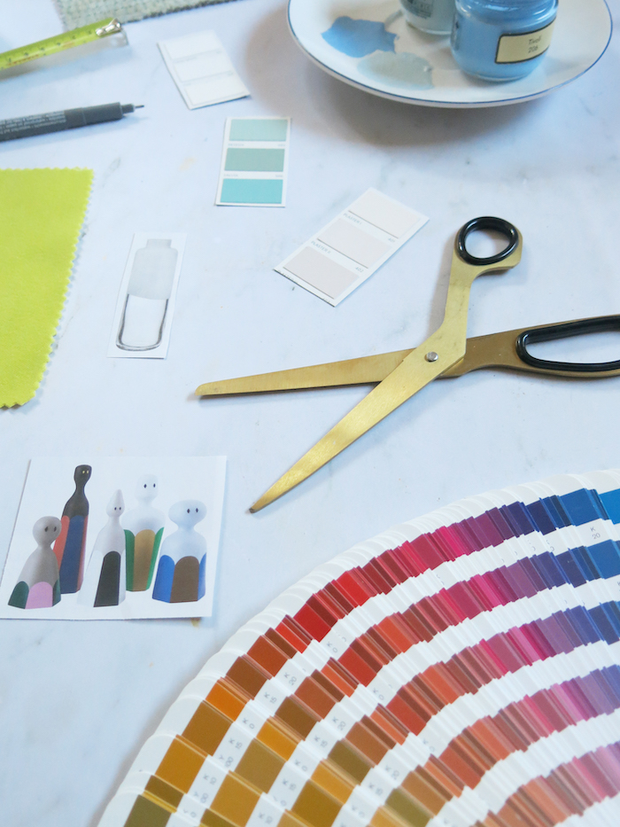 Interior Design Textiles colour wheel hues swatches