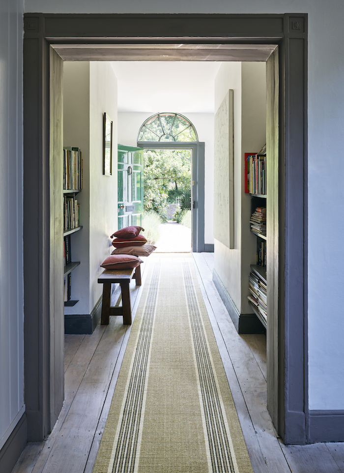 Striped Hallway Runner Moroccan Natural