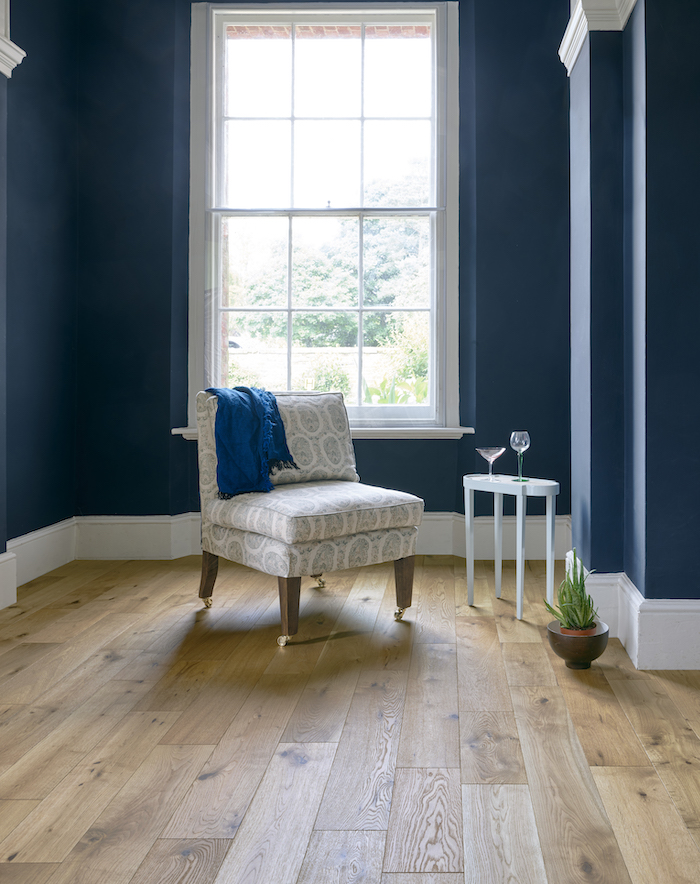 Wooden Floor Blue RoomOil Ideas for home