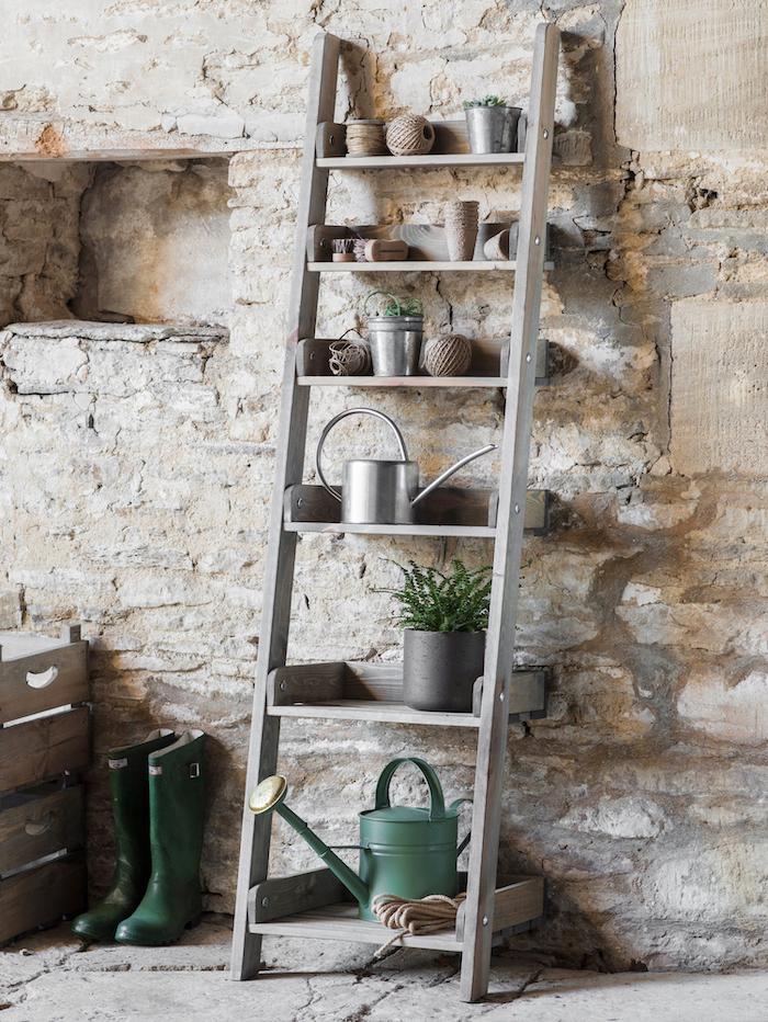 Indoor outdoor Shelving Ladder Storage Pots Ideas Tips Gardening