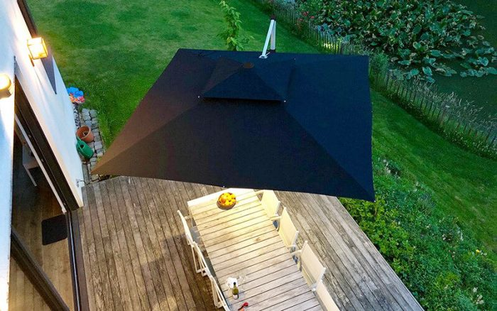 Parasol Aluminium Luxe 3 X 4 M Residence.Lucy Gleeson Interiors Interior Designer Stylist Award Winning
