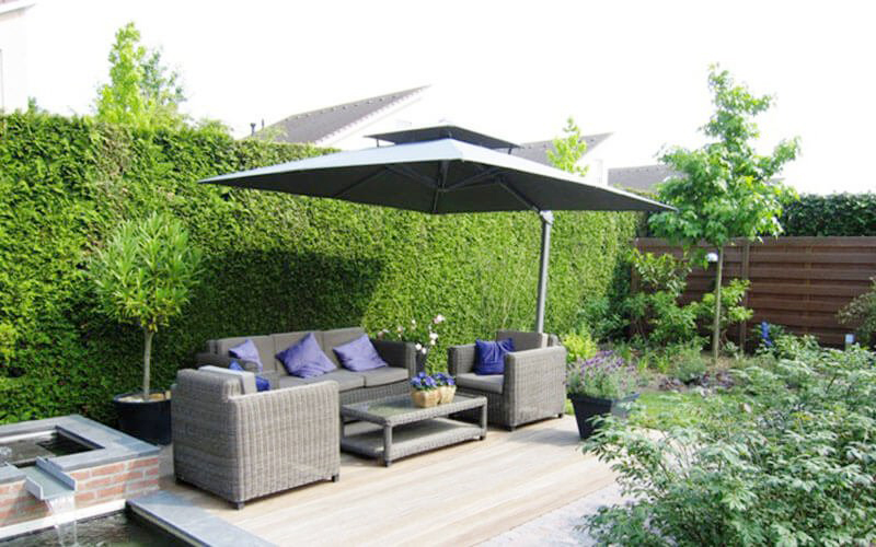 Solero Parasols Garden shade inspiration ideas summer