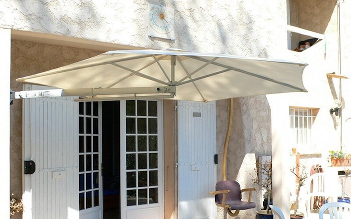 solero parasol wall attached