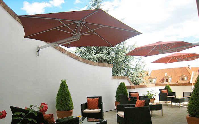 Wall Parasol garden restaurant shade sunny ground