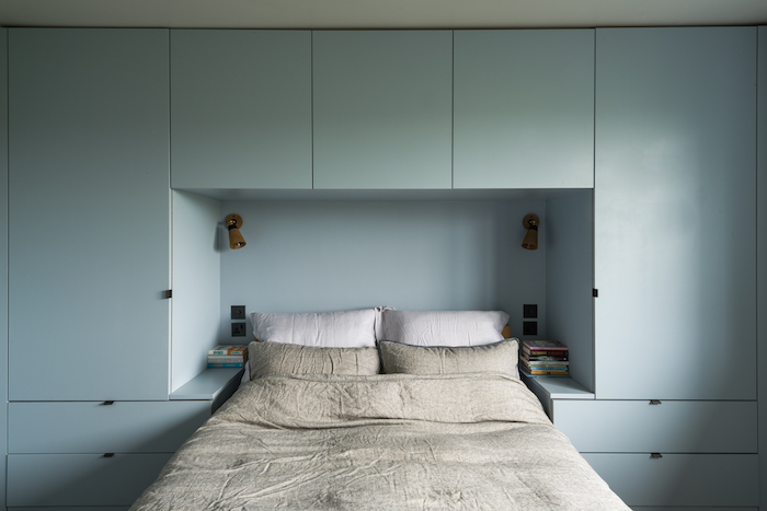 blue bedroom fitted units cool