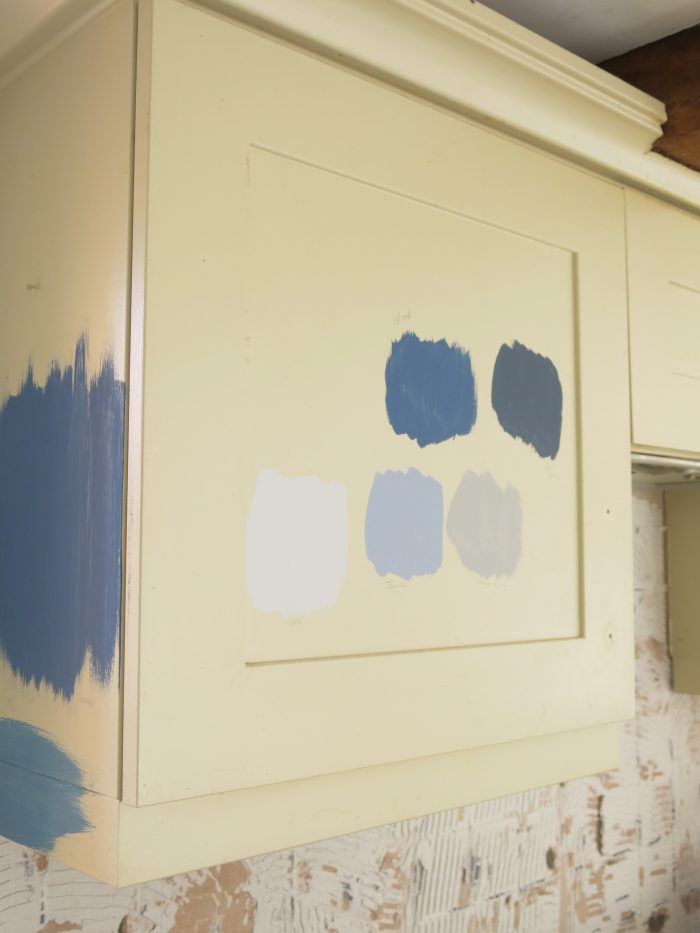 paint swatches kitchen blue inspiration ideas