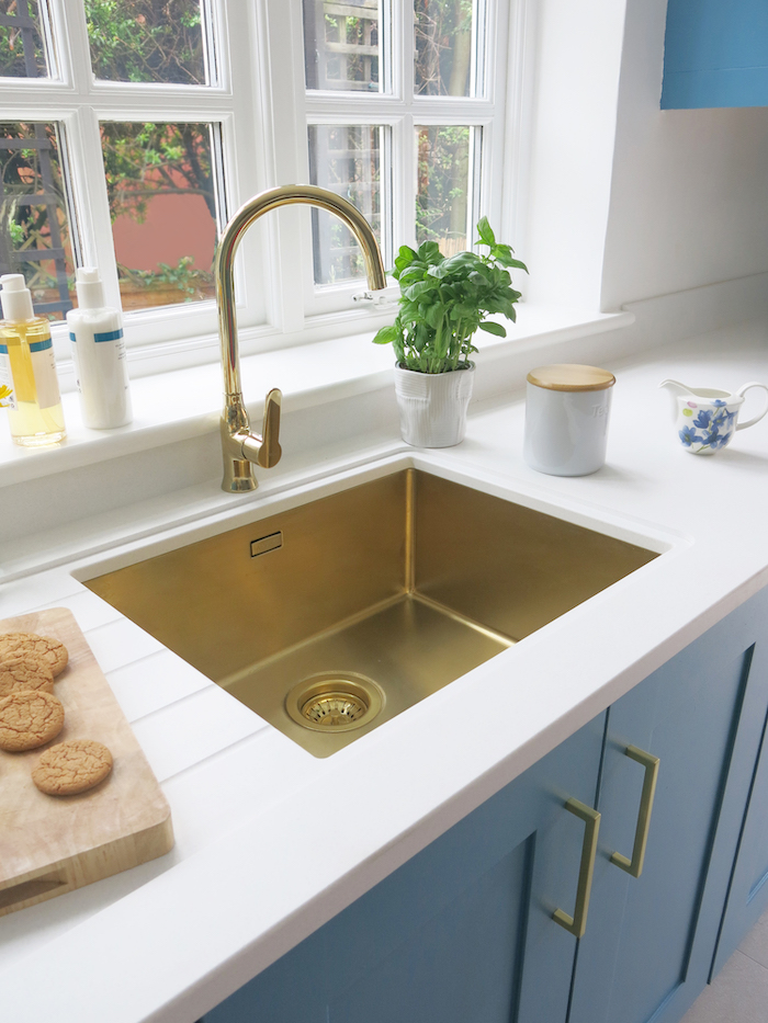 Gold Sink by Alveus Kitchen Shiny Warm Undermount