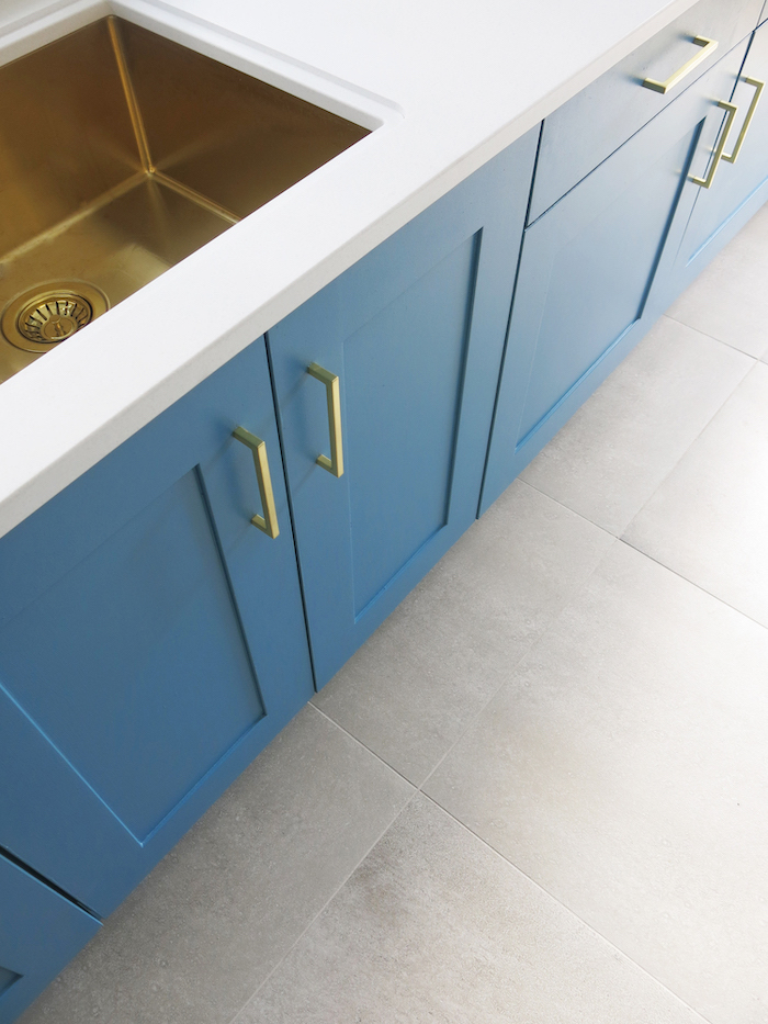 grey floor tiles kitchen large stylish