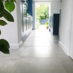 Grey tiles kitchen large cement look