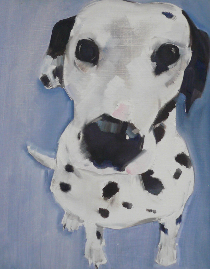 Dalmatian Dog Art work Print home frame