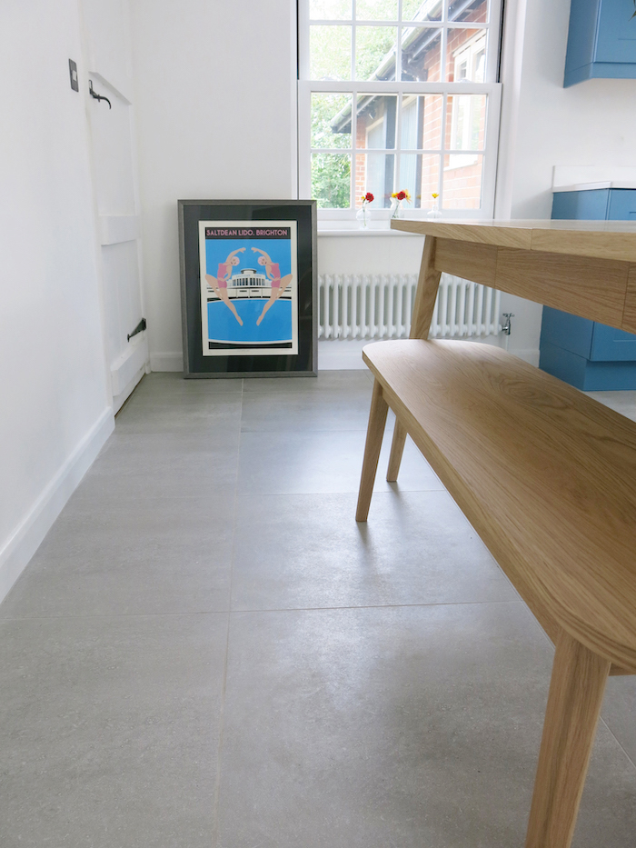 floor tiles grey large kitchen style cement