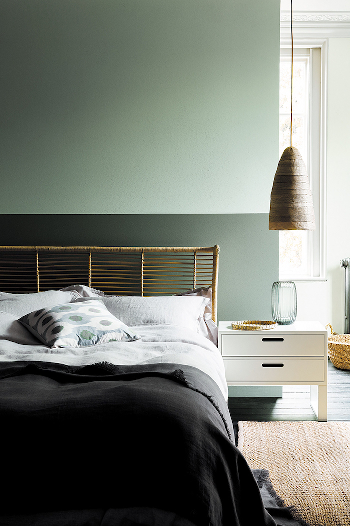 Little Greene Green Paint in Bedroom