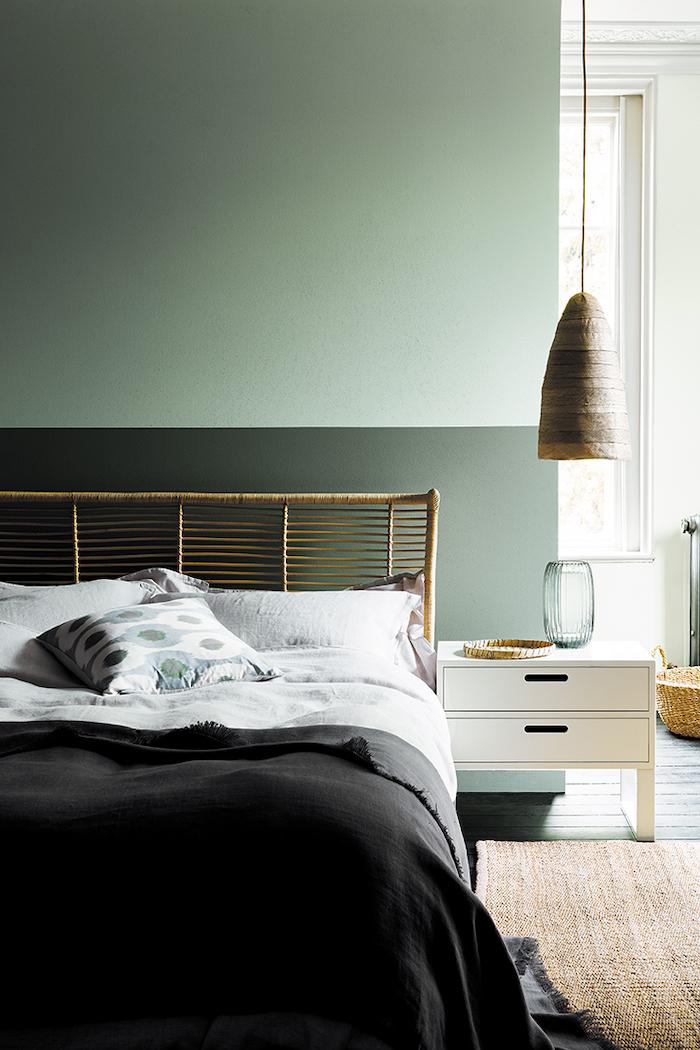 Little Greene Green Paint in Bedroom