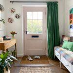 front door DIY curtain on Youtube