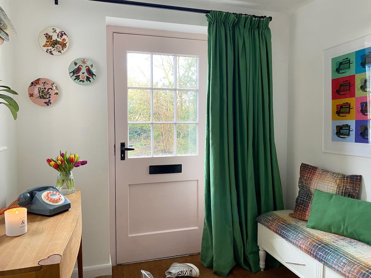 DIY Curtain on Youtube how to make a front door curtain