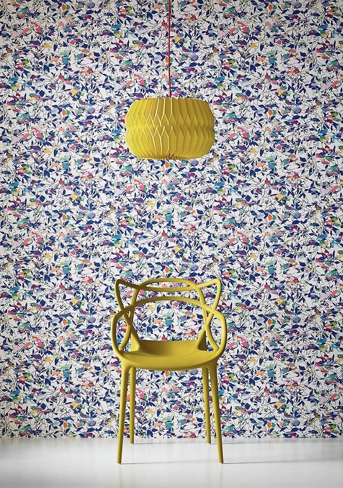 Graham and Brown Colourful Print Wallpaper Yellow Chair