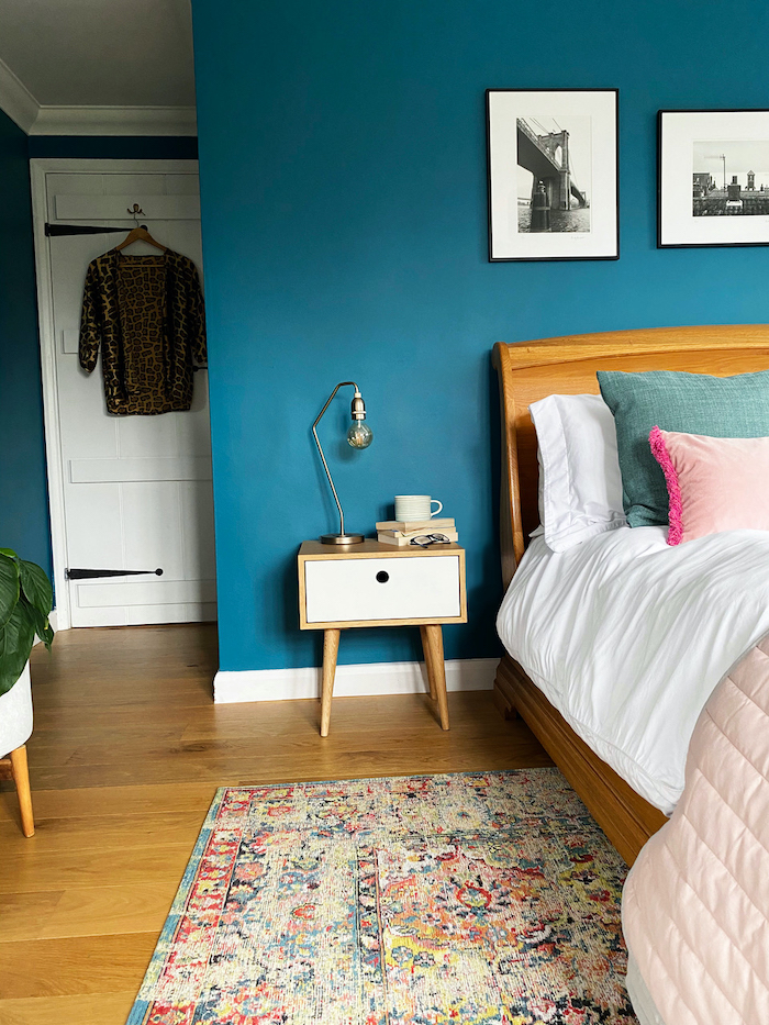 Blue Bedroom Little Greene Teal Cosy Moroccan Rug