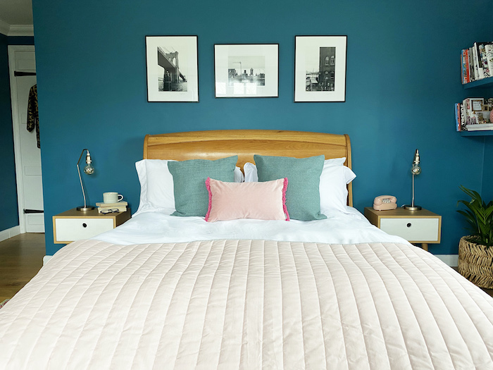 Pink Next Bedspread Teal Bedroom Pictures aboce Sleigh type Bed