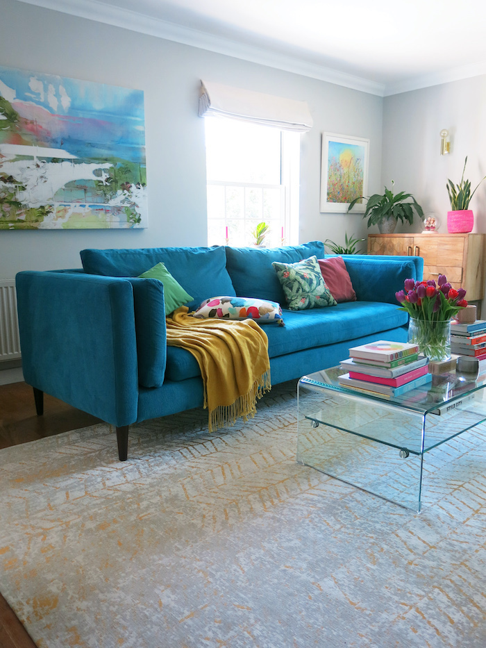 teal blue sofa living room colour inspiration for the home