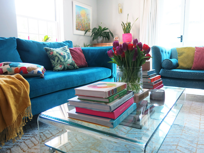 Teal Sofa Workshop living room inspiration colours bright fun