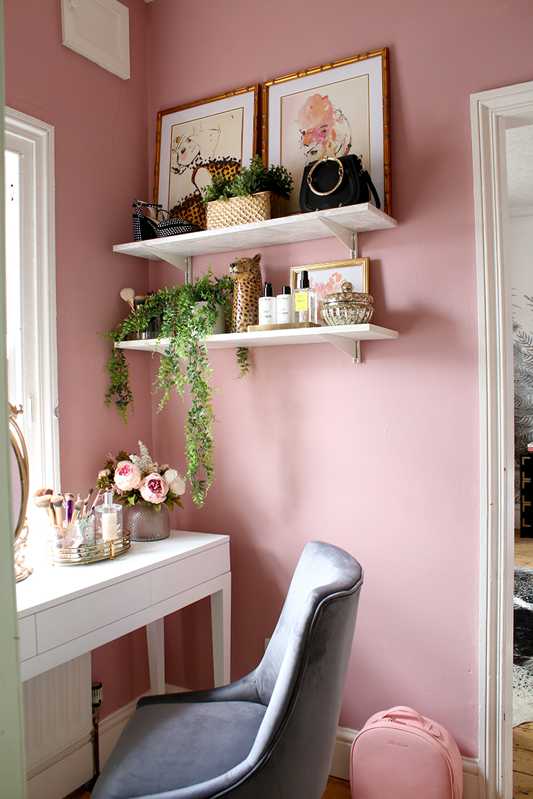 Pink Dressing Room Calming Space Balancing pretty calm room in home Swoon Worthy Blog