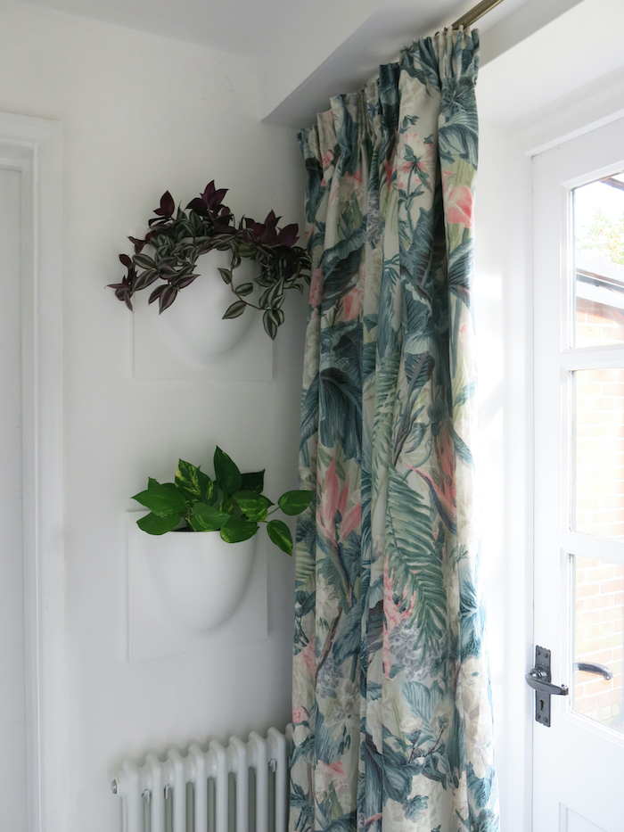 wall mounted plant holder biophilic design tropical fabrics