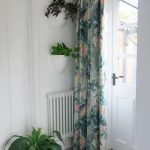 biophilic prints textiles for door curtain