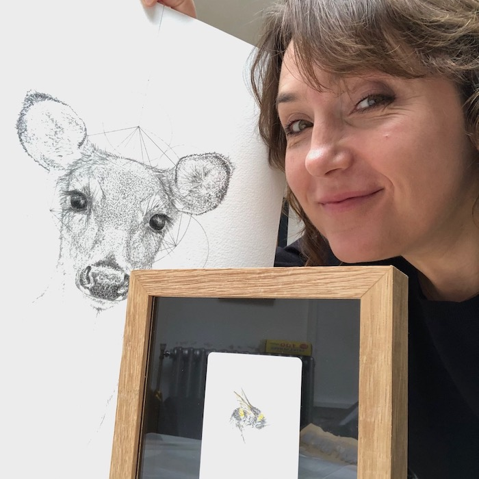 jessica albarn drawing bee on playing card