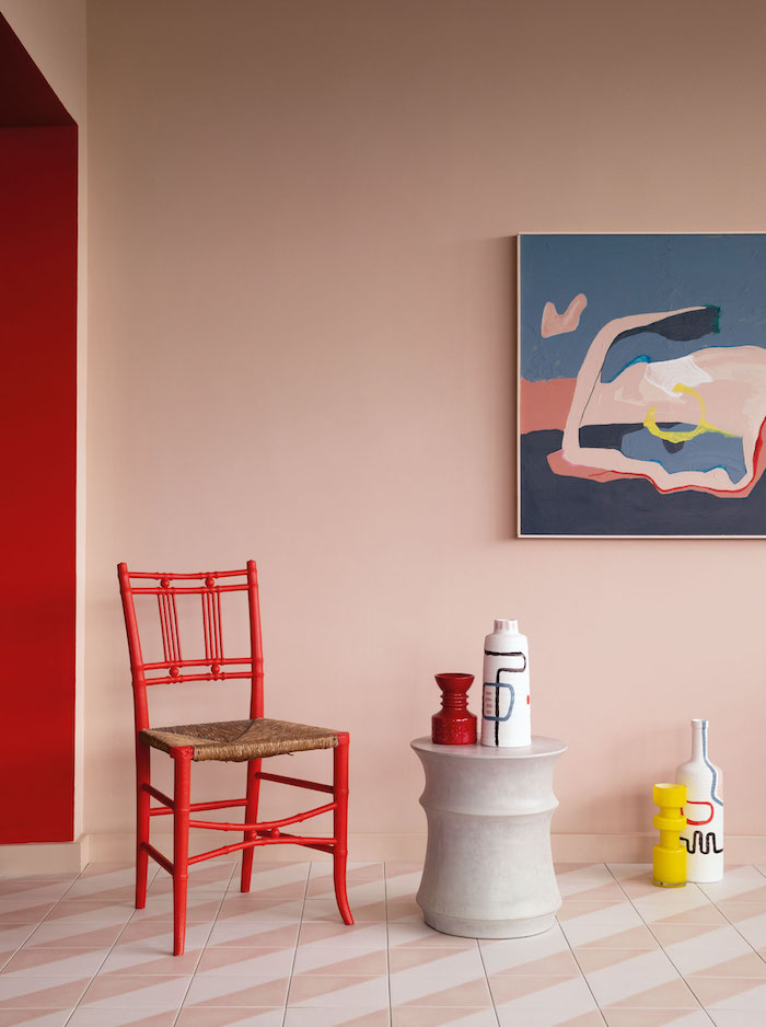 pink paint wall inspiration