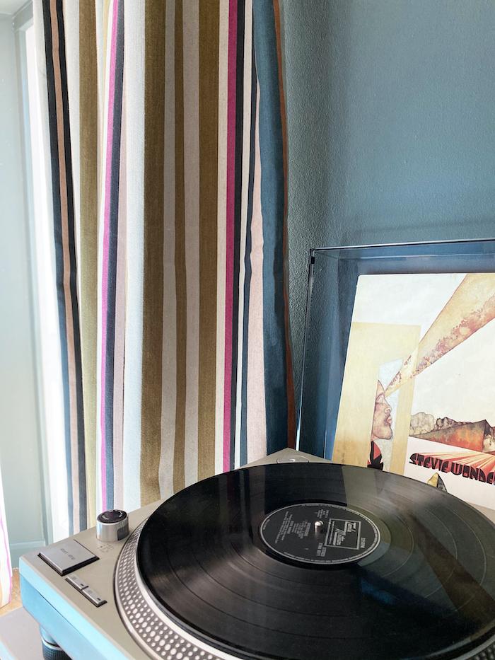 vinyl record stevie wonder door curtains