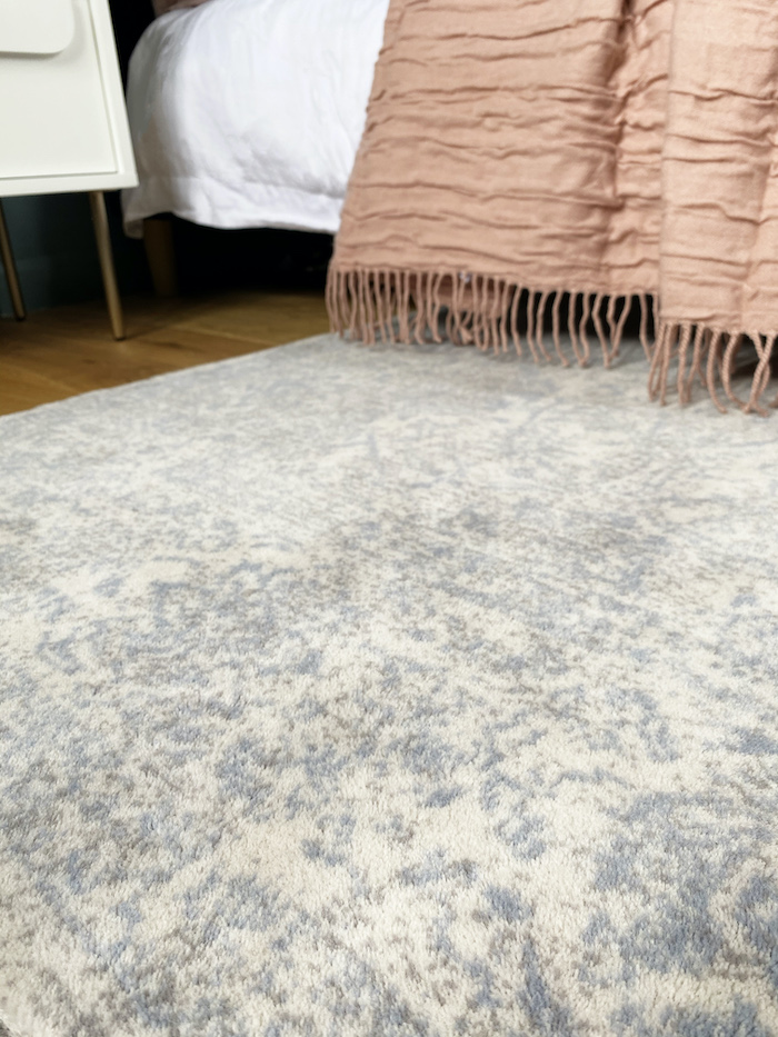 Brintons Agnella Rug Wool blue print cosy bedroom