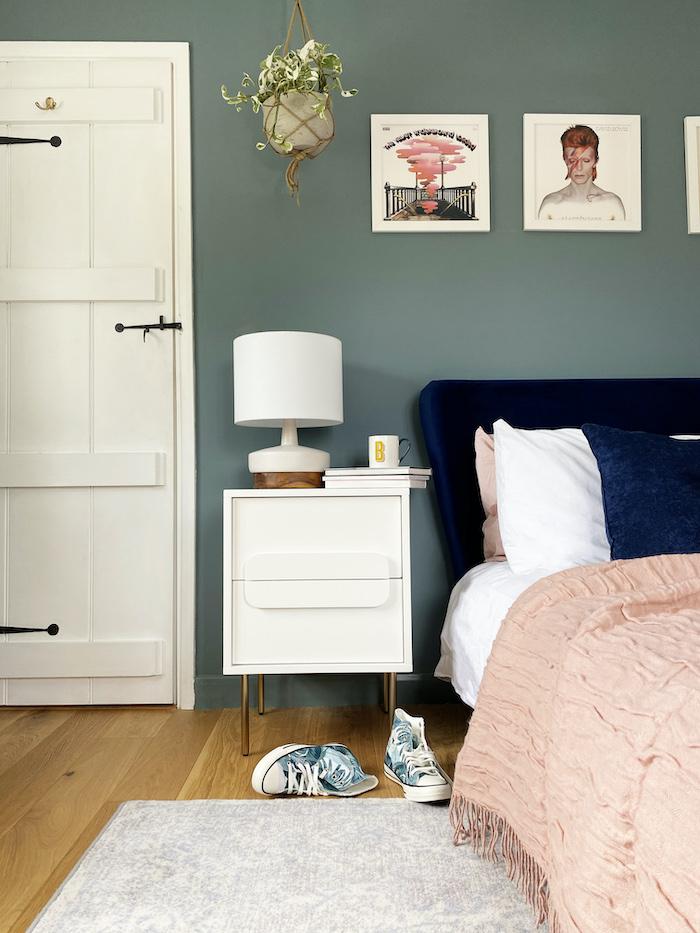 brintons rug agnella wool blue soft bedroom space west elm