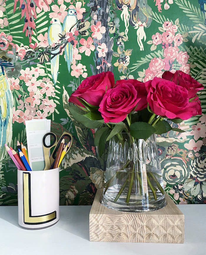 Linwood Wallpaper office green tropical stylish space