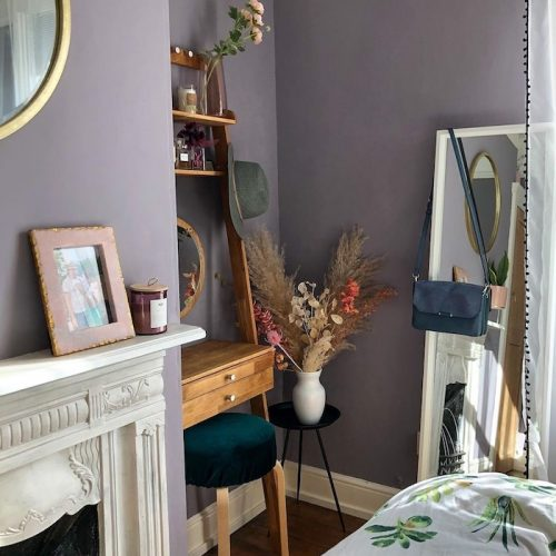 Purple bedroom inspiration calming serene ideas home colours