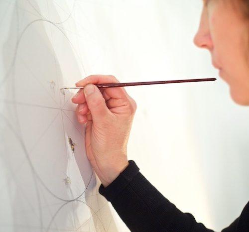 Jessica Albarn Artist drawing bee